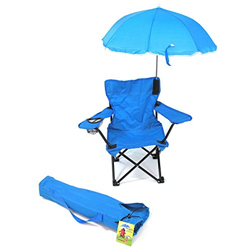 Redmon For Kids Beach Baby Kids Umbrella Camp Chair, Blue