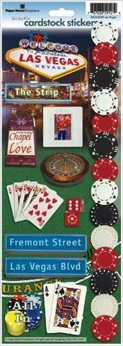 Las Vegas Cardstock Stickers - Paper House Productions Las Vegas Nevada Travel & Vacation Cardstock Scrapbook Stickers, STCX-0029E