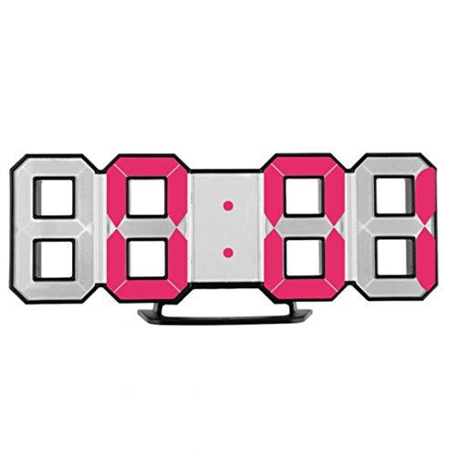 X-gadget Alarm clock,Desk clock, Led wall clock, Modern Digital LED Table Desk Night Wall Clock Alarm Watch 24 or 12 Hour Display (Red-2) by X-gadget