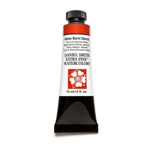 - DANIEL SMITH Extra Fine Watercolor 15ml Paint Tube, Italian Burnt Sienna