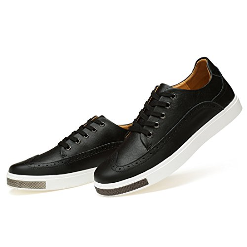 Minishion Boys Hombres Wingtip Fashion Sneakers Black