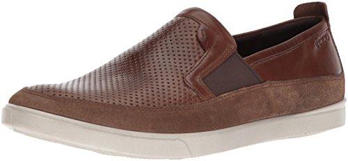 ECCO Men's Collin Slip on Sneaker, Cocoa Brown/Cocoa Brown Micro Perforated, 43 M EU (9-9.5 US) -
