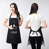 Leading Apron Kitchen Butcher Apron Chef Cooking Breathable Fabric -Black -68 x72cm