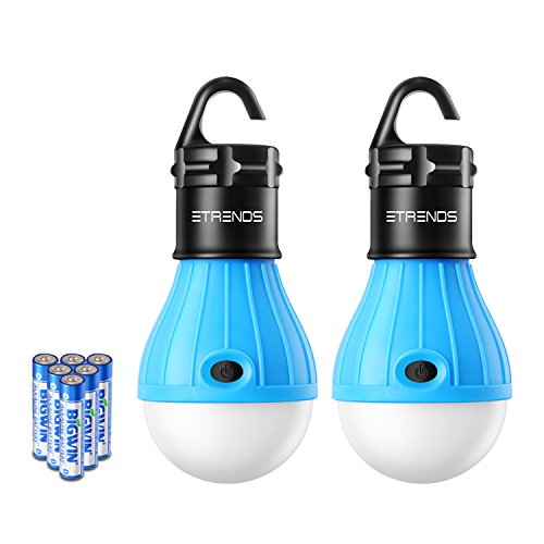 2 Pack E-Trends Portable LED Lantern Tent Light Bulb (Set of 2)