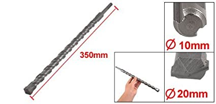 eDealMax 20 mm Anchura 350 mm Longitud Punta Broca SDS más vástago Albañilería: Amazon.com: Industrial & Scientific