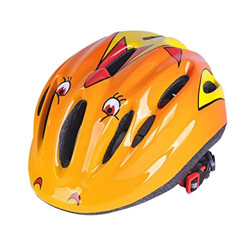 VORCOOL Children Bike Bicycle Helmet Children Sports Sports Helmet Safety Protective Helmet for Skating Cycling Riding - 53-58cm (Orange) by VORCOOL