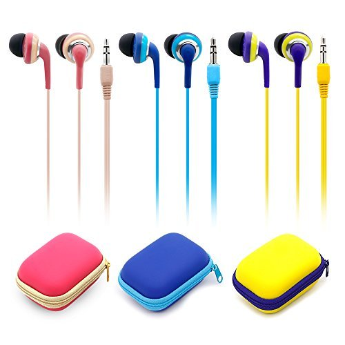 Wired Earbuds With Microphone, 3.5mm Bass Stereo In-ear Headphones for IOS/Android Device (Smart-phones & Laptops), Available When Exercise, Pack of 2PCS, Color Random by KATEVO (Image #8)