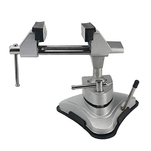 PRETTY Bench Vises Multi-Angle Table Vise Mini Pivoting Vise with 360° Swiveling Head and Powerful Suction Mounting Mechanism