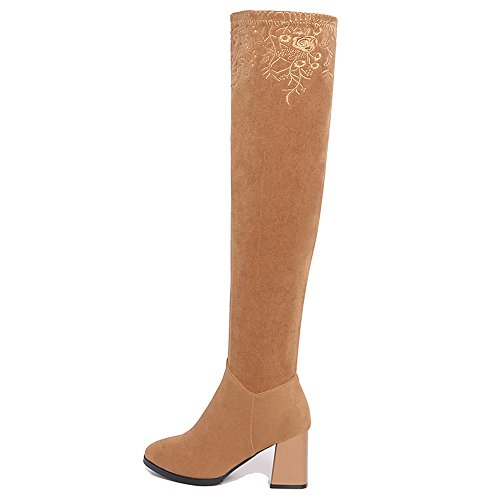 Nine SevenOver-the-knee Boots - Botas mujer caqui