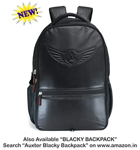 41q8XqXyFcL AUXTER Blacky Leatherette Gym Bag Duffel Bag Shoulder Bag for Men and Women Emboss Logo (Black)