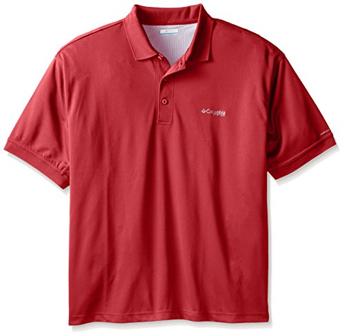 Cast Mens T-shirt - Columbia Sportswear Men's Big Big & Tall Perfect Cast Polo Shirt, 1X, Sunset Red