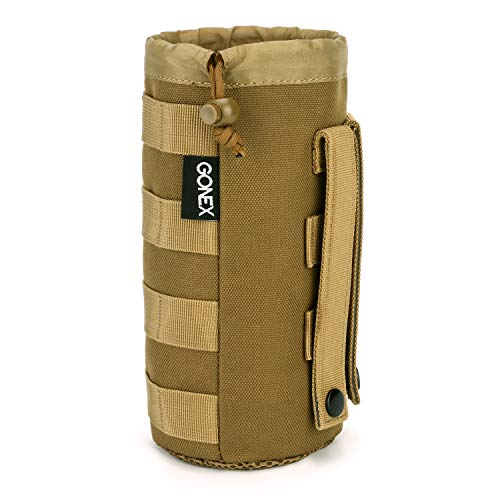 Gonex Tactical Military MOLLE Water Bottle Pouch Tan