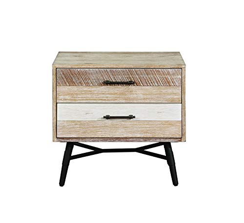 - Coaster Marlow Retro Industrial Rough Sawn Multi-Tone Nightstand 215762