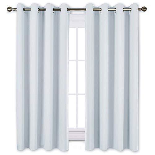 nicetown nicetown blackout nicetown greyish white room darkening curtain panels window. Black Bedroom Furniture Sets. Home Design Ideas