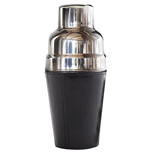 IWA Leather Cocktail Shaker Black #25675
