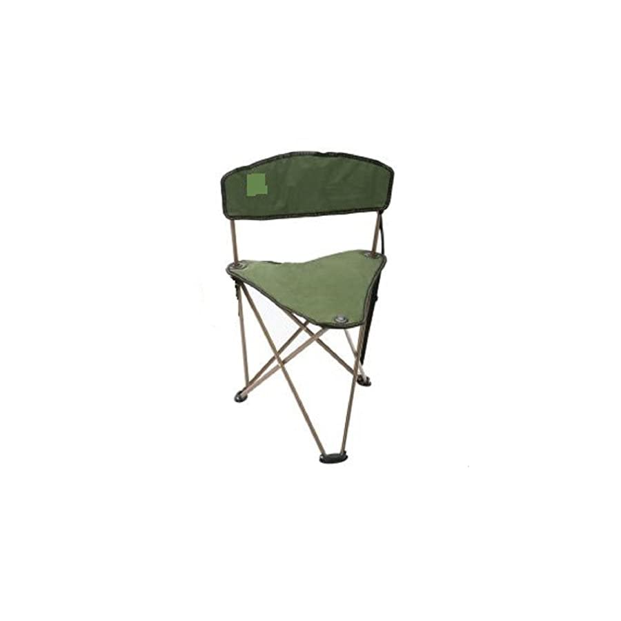 CAMPZIO Outdoor Dark Green Camping Fishing Hunting Stool Chair