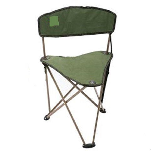 CAMPZIO Outdoor Dark Green Camping Fishing Hunting Stool Chair