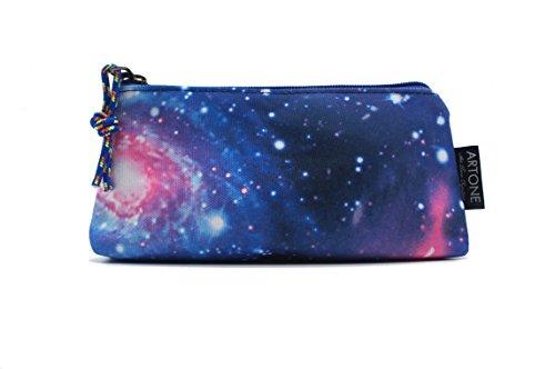 """Artone Universo Azul Casual Mochila Fit 15"""" Portátil Con La caja de lápiz Galaxy y Crossbody Bolsa Conjunto Juego de 4"""