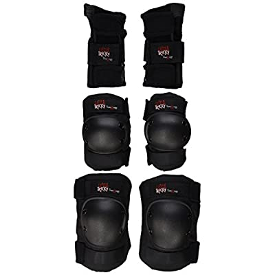 Triple 8 Youth Little Tricky Protective Pack with Instructional DVD (Black, Junior) : Skate And Skateboarding Protective Gear : Sports & Outdoors