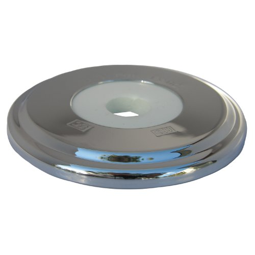 Tub Flange - LASCO 03-6011 Bathtub Spout with Round Trim Plate, Chrome Plated