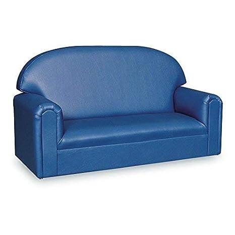 Brand New World Furniture FIVB100 Brand New World Toddler Premium Vinyl Upholstery Sofa, Blue