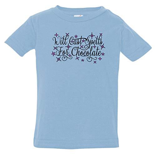 Tenacitee Infant's Will Cast Spells for Chocolate Shirt, 18 Months, Light Blue]()