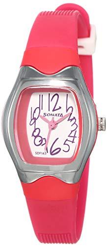 Sonata analog White Dial Women #39;s Watch NM8989PP06/NN8989PP06
