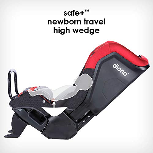 41q8bqSaeYL - Diono Radian 3QX 4-in-1 Rear & Forward Facing Convertible Car Seat | Safe+ Engineering 3 Stage Infant Protection, 10 Years 1 Car Seat, Ultimate Protection | Slim Design - Fits 3 Across, Red Cherry