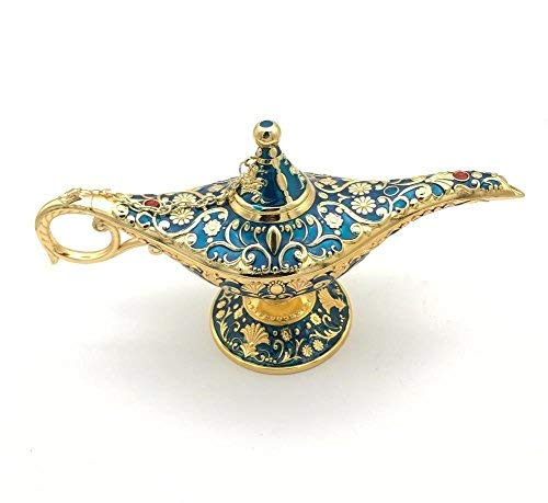(W.D Perfect Festival Gift Legend Aladdin Magic Genie Lamps Incense Burners (Golden)
