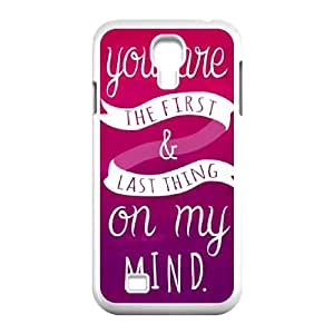Samsung Galaxy S4 9500 Cell Phone Case White First And Last Thing On My Mind Pink VIU162659