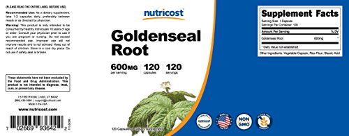 Nutricost Goldenseal Root 600mg, 120 Capsules (3 Bottles) - Non-GMO, Gluten Free, Veggie Caps by Nutricost (Image #5)