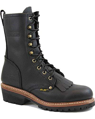Adtec 10'' Fireman Logger Men's Boot 12 D(M) US Black by Adtec