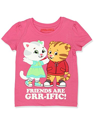 Daniel Tiger Girls Short Sleeve Tee (2T, Pink) ()