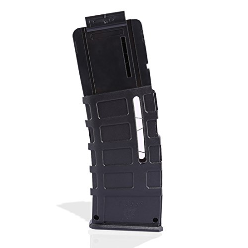 Worker F10555 15-Dart Quick Reload Clips Injection Mold Magazine Clip for nerf n strike elite blaster - Black