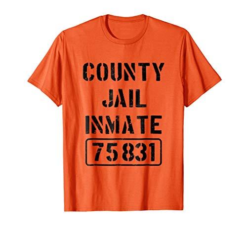 Mens Prisoner County Jail Inmate Costume | Halloween