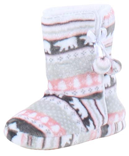 Pictures of PajamaMania Slipper Boots with Rubber Sole Bear 1