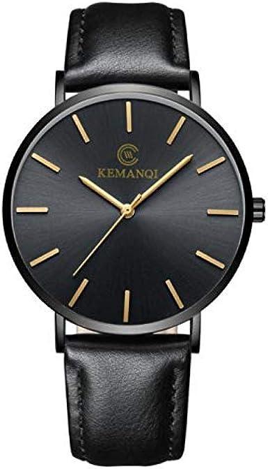 Reloj Hombres Pareja De La Moda Banda De Cuero De Cuarzo Ronda Comercial Reloj De Los Hombres