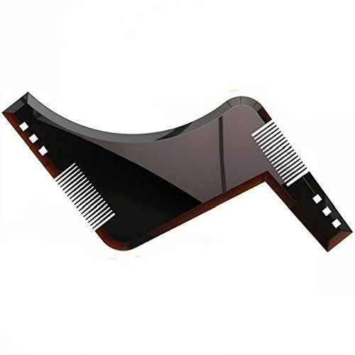 All in One Beard Shaping Template Tool Double-sided Beard Comb for the Styling of Multiple Mordern Beard Styles