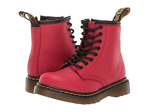 Dr. Martens Kid's Collection Unisex 1460 Brooklee Boot (Toddler) Satchel Red Romario 8 M UK -