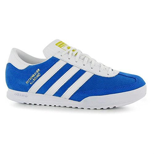 Adidas Originals Herren Beckenbauer Fashion Sneaker Lace UP Sports Schuhe Schuhe Blue/White/Gold