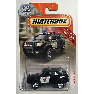 MBX '12 Ford Explorer San Diego Police #8 Matchbox Rescue Series 1:64 Scale Die Cast Car: Toys & Games