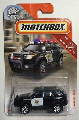 MBX '12 Ford Explorer San Diego Police #8 Matchbox Rescue Series 1:64 Scale Die Cast Car (Toy Ford Explorer Police Car)