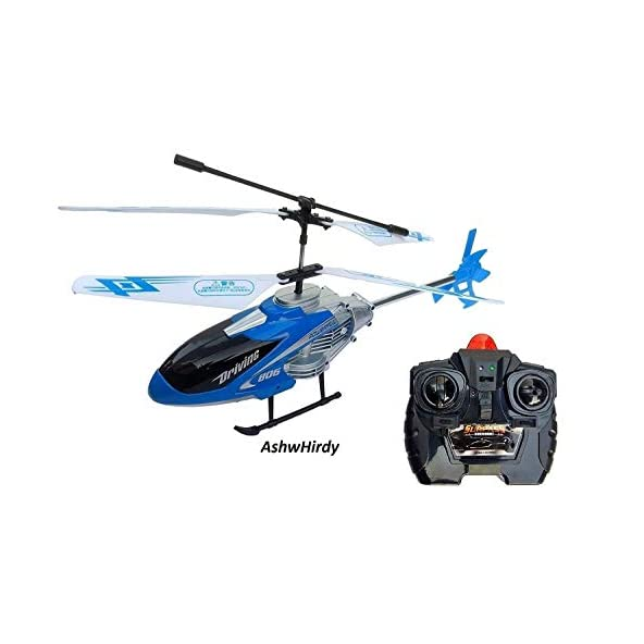 AshwHirdy® Velocity Remote Control Unbreakable Body Frame Toy Flying Helicopter with Led Lights