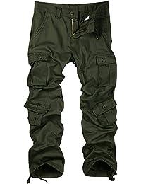 Men's Casual Loose Wild Multi-Purpose 8 Pocket Military Cargo Work Pants #6057