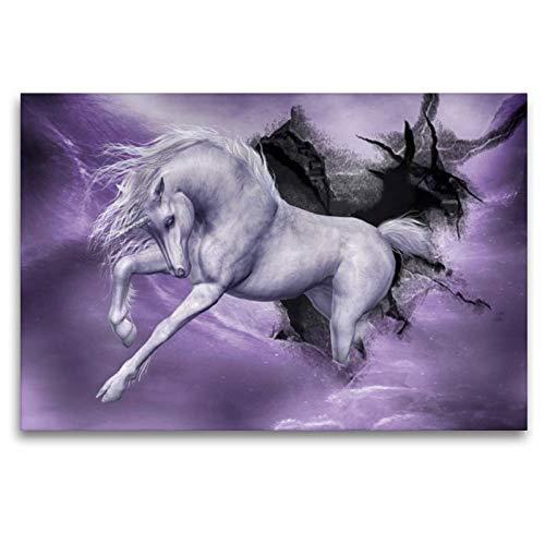 CALVENDO Toile Murale en Textile de qualité supérieure 120 x 80 cm Motif tempête Violette