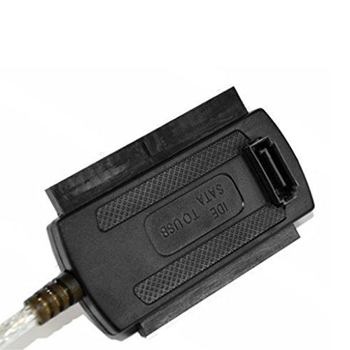 """New Durable USB2.0 to 2.5/"""" 44pin 3.5/"""" 40pin IDE SATA Hard Drive Converter"""