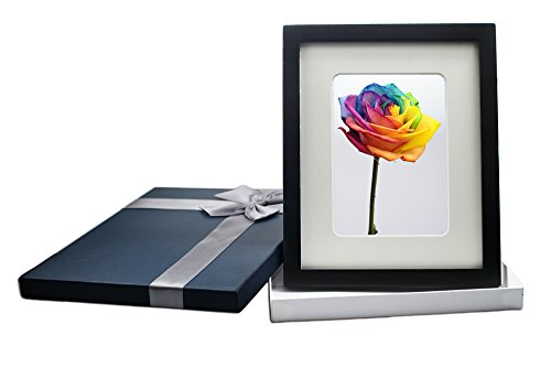 Black Picture Photo Frames Wall Frame Tabletop 11x14 Display Pictures 8x10 8.5x11 11x14 Glass Cover with Blue Gift Box
