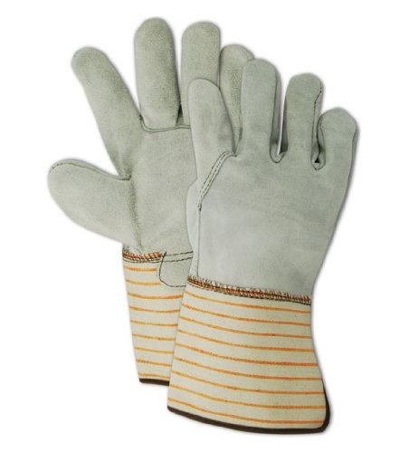 Magid T6370G Top Gunn Full Side-Split Cow Leather Glove with Gauntlet Cuff, Work, Extra-Large, Gray (Case of 12) by Magid Glove & Safety B00BB03M7Q