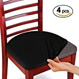 Voilamart Computer Office Chair Covers, 4 PCS Split Chair Seat Covers, Stretchable Rotating Desk Chair Cover Protector Fit Most Chairs - Black