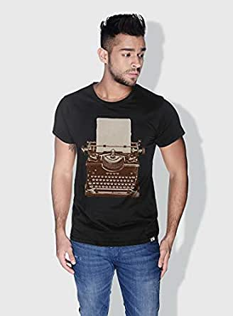 Creo Typewritter Retro T-Shirts For Men - M, Black